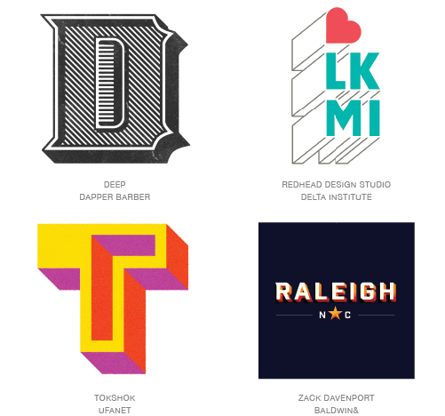 shaded logo design trends 2015