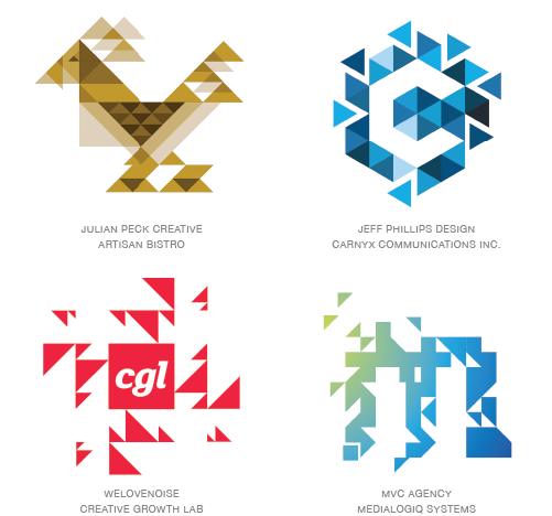 trixelate logo design trends 2015